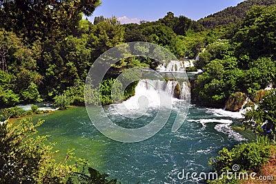 Krka river and waterfall