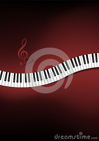 Krökt pianotangentbordbakgrund