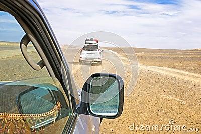 Körning till och med Sahara Desert