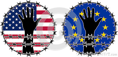 Kränkning av mänskliga rättigheter i USA och EU