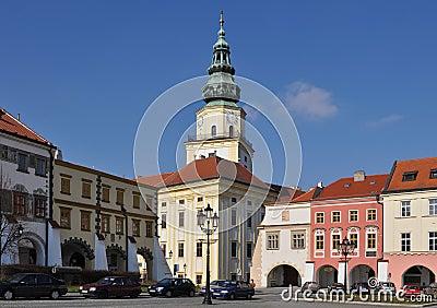 Kromeriz UNESCO heritage site,town square,Czech re