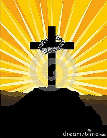 Kruis en kroon van doornen