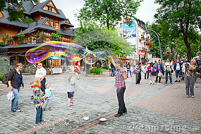 Krupowki street in Zakopane, Poland Editorial Image