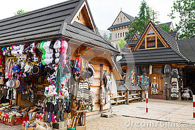 Krupowki street in Zakopane, Poland Editorial Stock Image