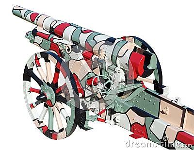 Krupp 105 Field Gun