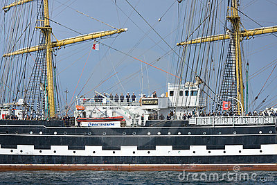Krusenstern ship - crew members Editorial Stock Photo