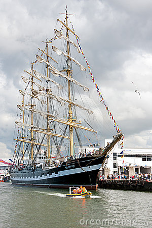Kruzenshtern ship in Tallinn Editorial Stock Photo