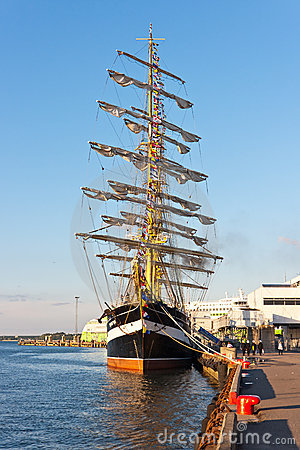 Kruzenshtern ship in Tallinn Editorial Stock Image