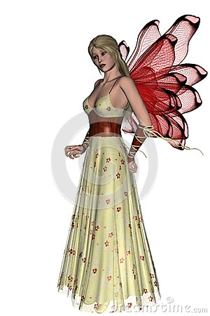 KRW Red Floral Faerie