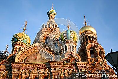 Krwionośny kościelny Petersburg rozlewający st