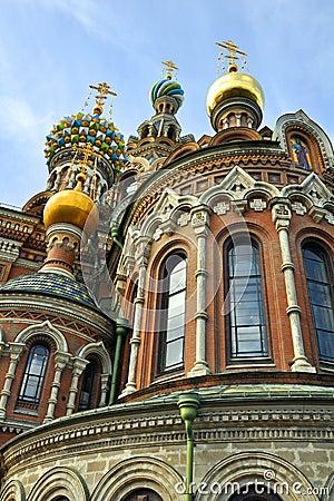 Krwionośny kościelny Petersburg wybawiciel rozlewający st