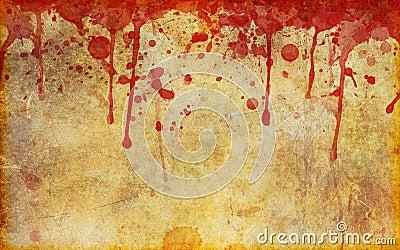 Krwionośny stary pergamin stary plamiącym
