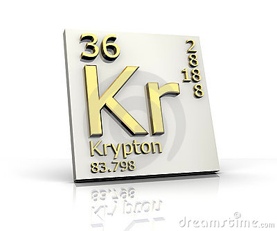 Krypton Element Periodic Table Krypton form Periodic Table of