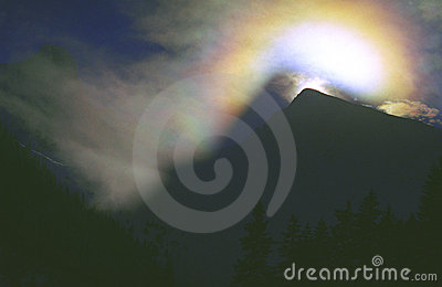 Kryształ lodową rainbow