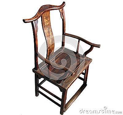 Krzesło z antykami chińskich mebli odizolowane