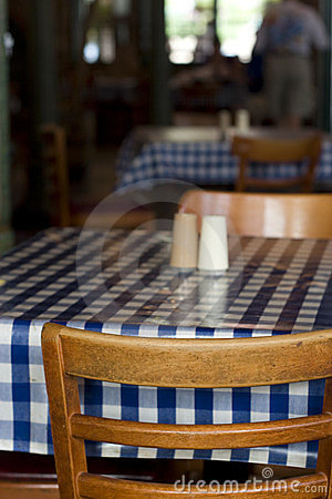 Krzeseł restauraci stół