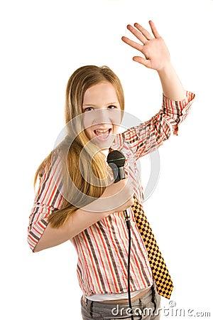 Krzycząca gwiazda rocka