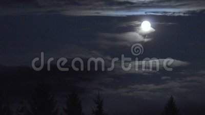 Księżyc w nocnym niebie poklatka zdjęcie wideo