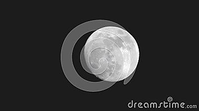 Księżyc w pełni na ciemnej nocy zdjęcie wideo