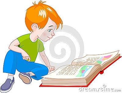 Książkowa chłopiec