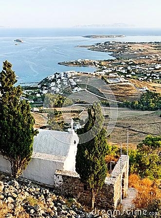 Küstenlinie von griechischen Inseln