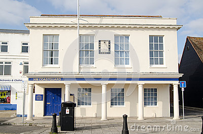 Küstenwachen-Büro, Poole, Dorset Redaktionelles Stockfoto