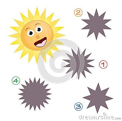 Kształta gemowy słońce