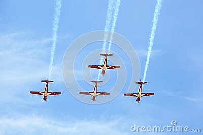 KT-1 Woong Bee from Indonesia show group flying Editorial Image