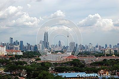 Kuala Lumpur city center scenic view