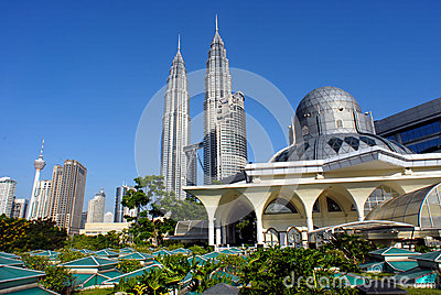Kuala Lumpur City Skyline Editorial Photo