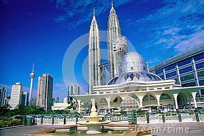 Kuala Lumpur City Skyline Editorial Stock Photo