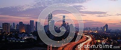 Kuala Lumpur City Skyline, Malaysia. Editorial Photo