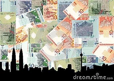 Kuala Lumpur with currency