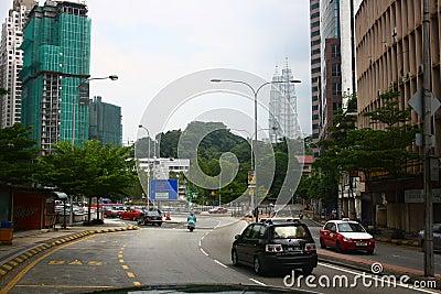Kuala Lumpur Downtown Editorial Image