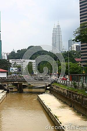 Kuala Lumpur Downtown Editorial Stock Photo