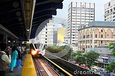 Kuala Lumpur LRT Editorial Photography