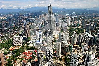 Kuala Lumpur, Malaysia: Panoramic View of City Editorial Photography