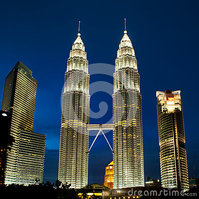 Kuala Lumpur, Malaysia  Petronas towers.