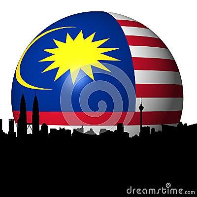 Kuala Lumpur Malaysian flag sphere