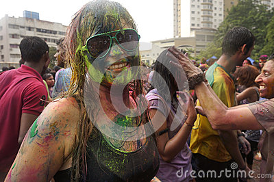 Colorful Face Editorial Stock Image
