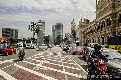 Kuala Lumpur old streets Editorial Stock Photo