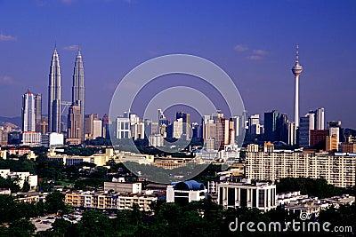 Kuala Lumpur Panoramic View Editorial Stock Photo