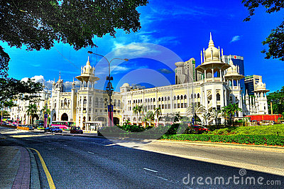 Kuala Lumpur Railway Station in HDR Editorial Stock Image