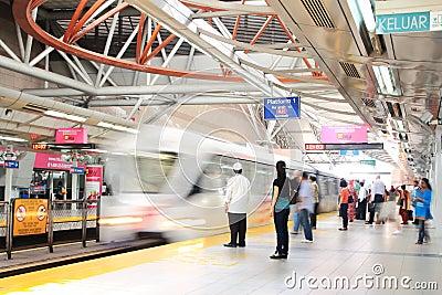 Kuala Lumpur Sentral Train Station Editorial Photo