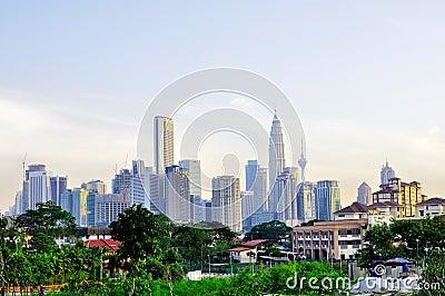 Kuala Lumpur skyline Editorial Stock Image
