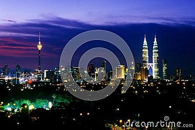 Kuala Lumpur Skyline Editorial Photo
