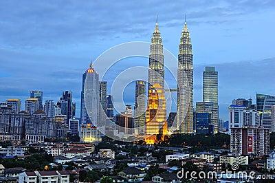 Kuala Lumpur Skyline, Malaysia Editorial Stock Image