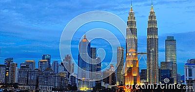Kuala Lumpur Skyline, Malaysia Editorial Photo