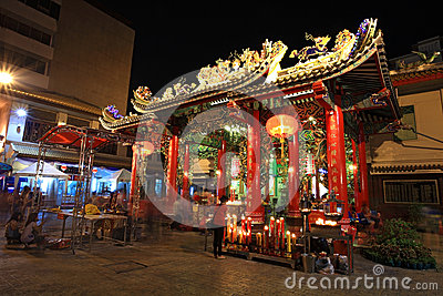 Kuan Yin shrine at Yaowarat China town Editorial Photo