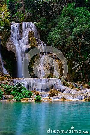 Free Kuang Si Water Fall Stock Image - 77787481